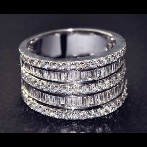 Sterling Silver Wedding Band Engagement New